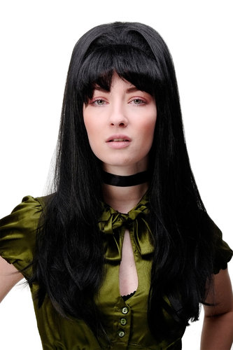 GFW1673-2 Lady Quality Wig Cosplay Theatre 50s 60s Beehive Jeannie TV long straight black 21""