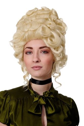 Lady Quality Wig Theatre historic Renaissance Baroque Rococo Beehive Marie Antoinette platinumblond