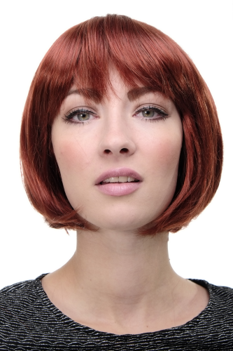 WIG ME UP ® - Lady Quality Wig short Page Bob fringe bangs dark red 703-350