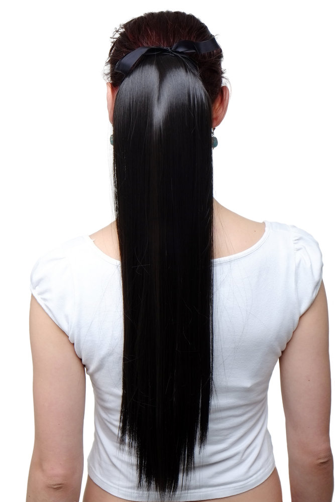Hairpiece Ponytail Extension Long Straight Very Light With Ribbon