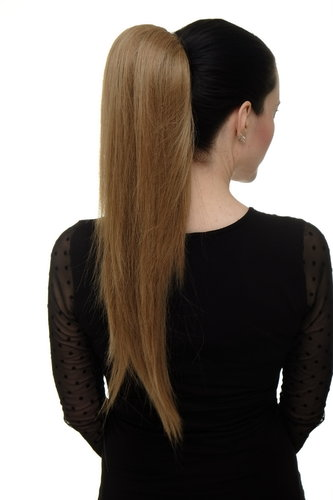Hairpiece micro clamp, combs, elastic draw string straight voluminous very long honey blond 23 ""