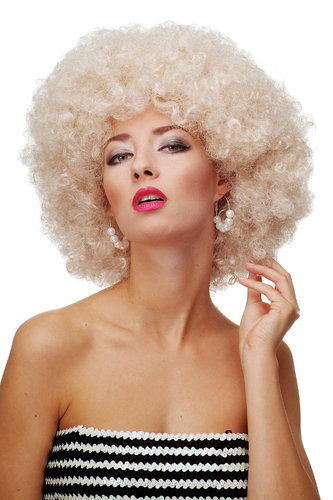 Afro Perücke Hellblond Disco PW0011-P66