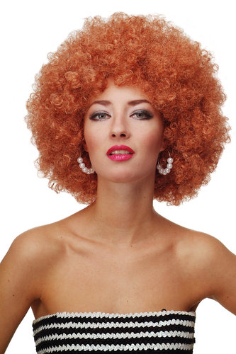 Party/Fancy Dress/Halloween WIG gigantic super volume futuristic COPPER disco AFRO funky huge HAIR!