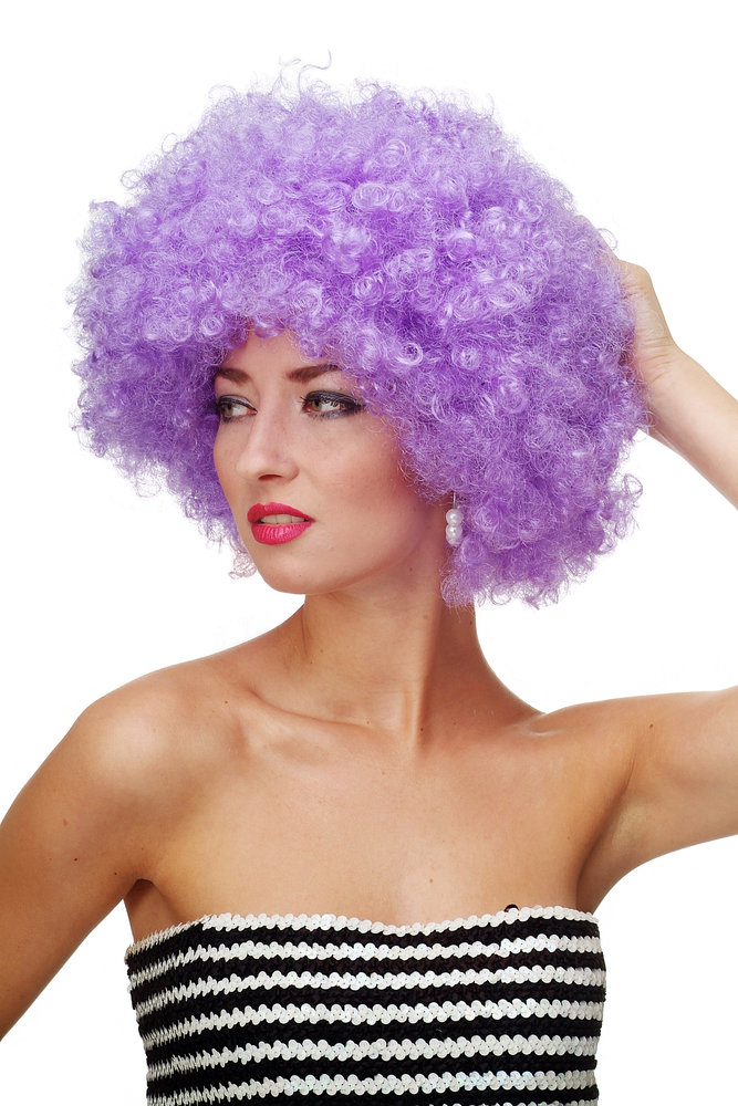 Party/Fancy Dress/Halloween WIG gigantic super volume PURPLE disco ...