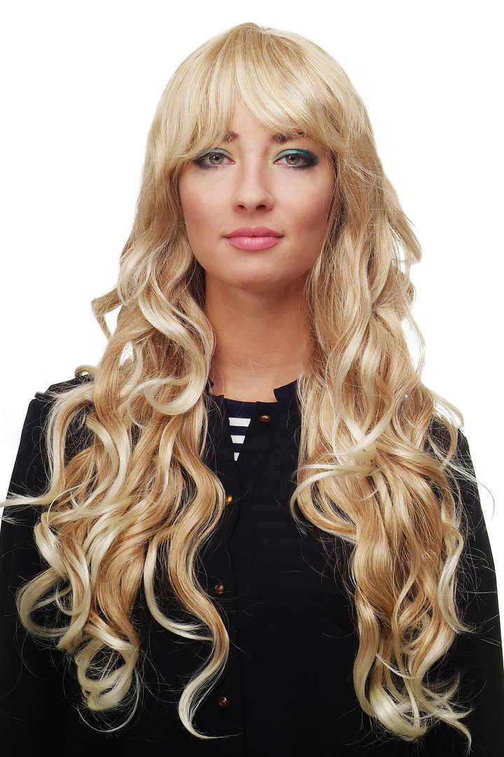 Stunning Lady Quality Wig Very Long Wavy Fringe For Side Parting