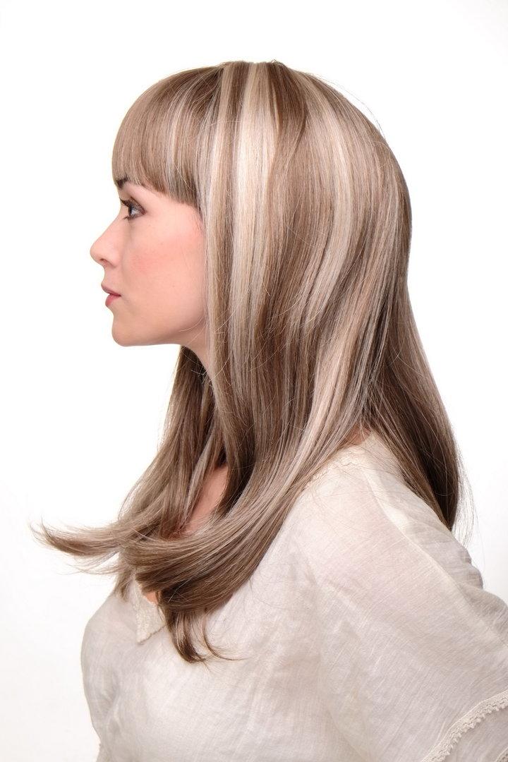 blond braune strähnen