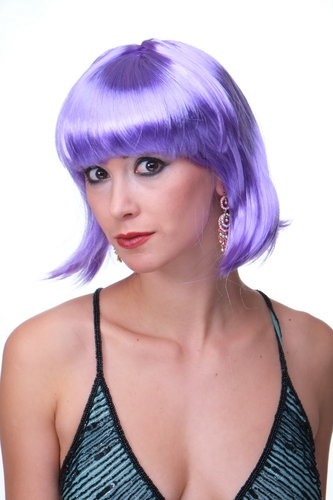 Party/Fancy Dress/Halloween Lady WIG Bob fringe short sexy VIOLET disco COSPLAY