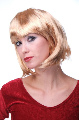 Party/Fancy Dress/Halloween Lady WIG Bob fringe short sexy GOLDEN BLOND goldblond disco