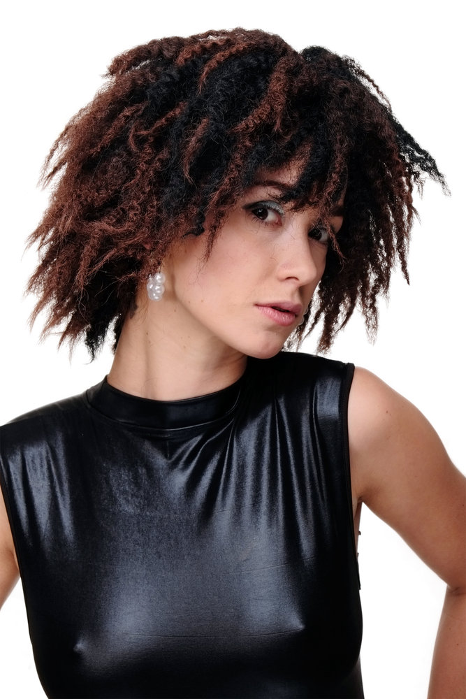 Lady Quality Wig Wild Volume Kinked Curls Afro Caribbean Black