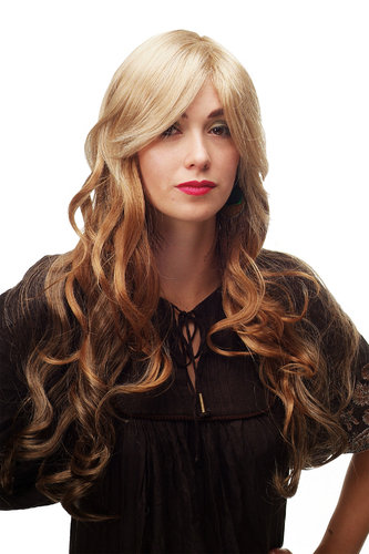 wig blond brown long A6-G15