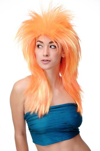 Cosplayperücke 80er Wave Punk Orange Gelb Modell: F168-C