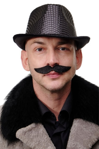 carnival Halloween fake beard black mustache circus director 20's freak show carnival MM-63