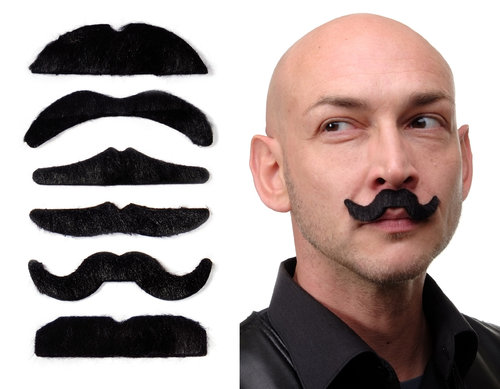 carnival Halloween six beards set mustache black MM-007