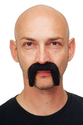 carnival Halloween fake beard black mustache Fu Manchu victorian Lord Gentleman MM-75