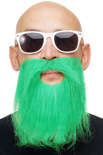 carnival Halloween fake beard green full beard Ireland St Patrick's Day Leprechaun MM-014