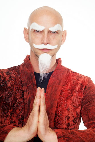 white pointed beard carnival Halloween fake beard old grandfather Kung Fu master MM-33