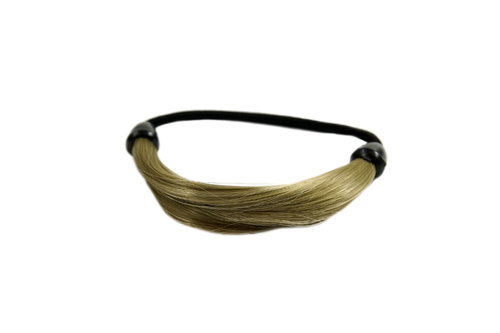 NHA-003B-24 Invisible Hair binder tie scrunchy light ash blond synthetic hair