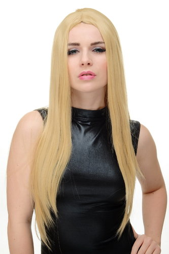 WIG ME UP ® YZF-7181-86 Lady Cosplay Quality Wig middle parting straight long bright blond