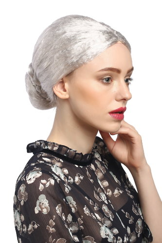 Lady Party Wig Fancy Dress silver grey hairbun Governess Prima Ballerina Grandmother Piano Teacher
