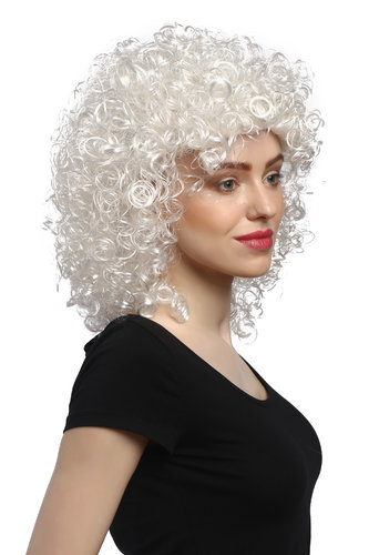 90828-ZA62 Angelic Lady Party Wig Fancy Dress Christmas white densely curled volume Angel 14""