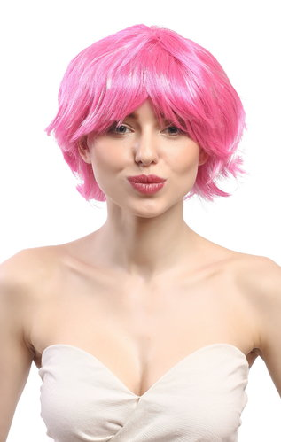 90862-ZAC5B-ZA28 Lady Party Wig Halloween short wild voluminous style two pink hues mixed