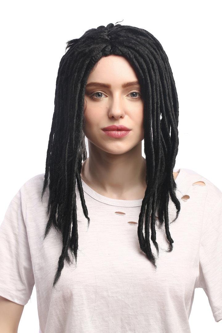 4991ad588f0 ... 90674-ZA103 Man Lady Party Wig Halloween Dreadlocks Rasta Rastafari  Black 16