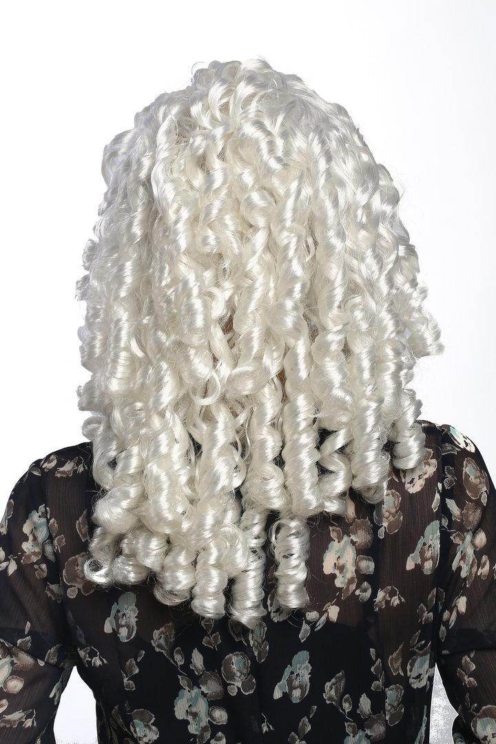 FANCY DRESS LADIES BAROQUE NOBLEWOMAN WIG WHITE
