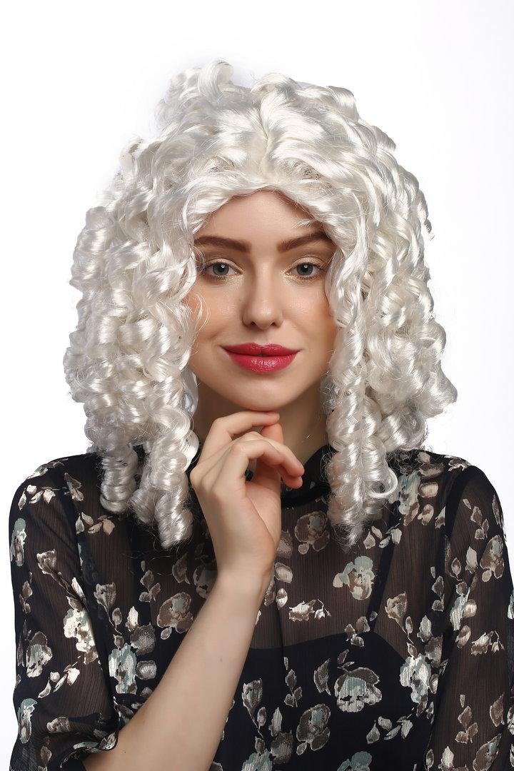 BAROQUE NOBLEWOMAN WIG WHITE FANCY DRESS LADIES