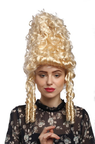 90867-ZA88 Lady Party Wig Halloween historic Cosplay Baroque Beehive blond curly Marie Antoinette