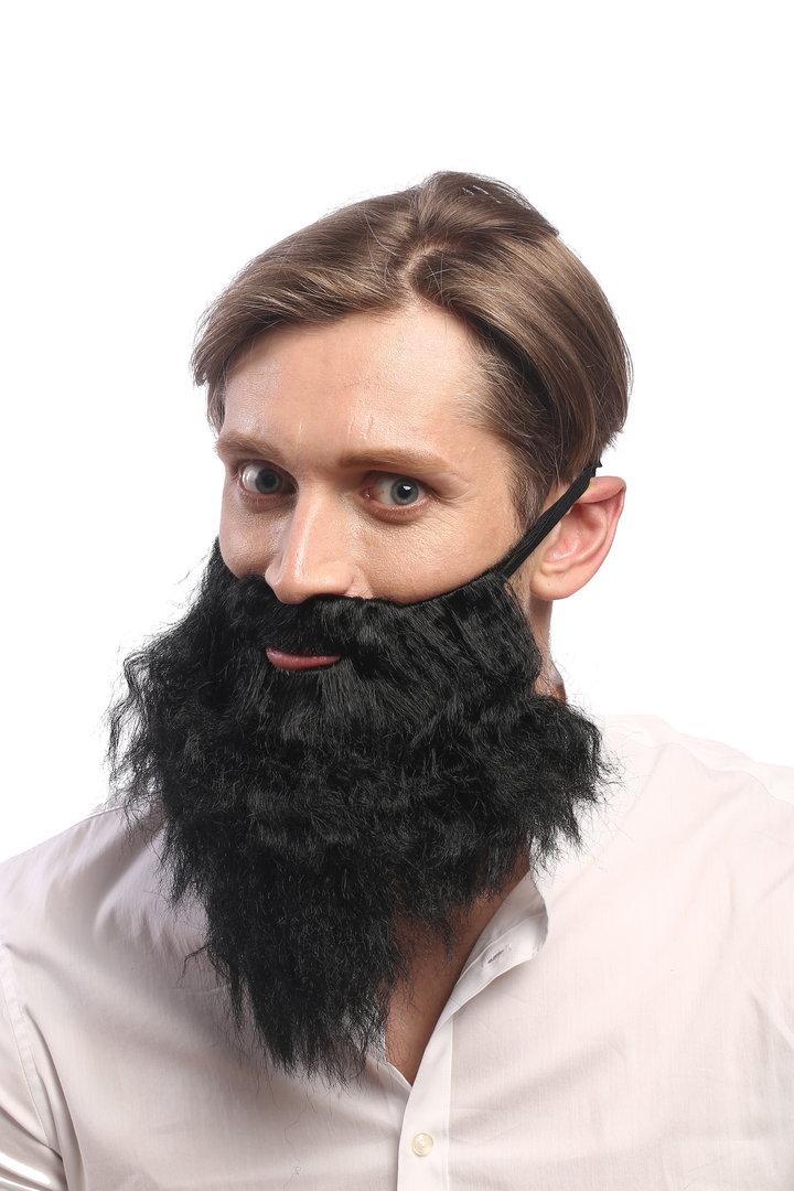 6098A+B-P6 Wig /& Beard set Halloween Carnival Stone Age Men Wild Man hermit hipster light brown WIG ME UP /®