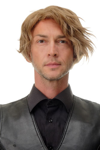 1264-15 Lady (or Man Men) Quality Wig short and wild, sexy parting dark blond