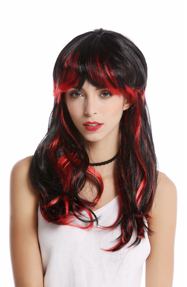 Vampire Girl Red And Black Wig One Size