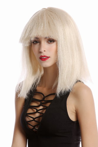 Wig Ladies Women straight voluminous short wide bangs fringe blond Android in 80s Science Fiction