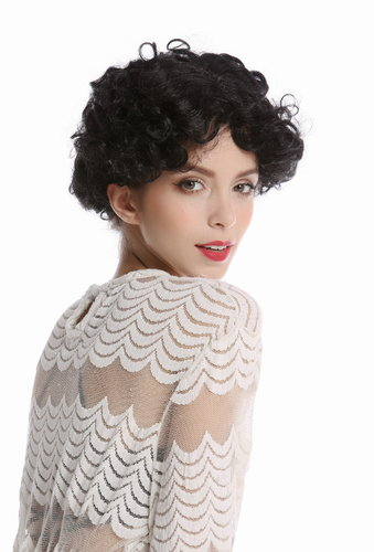 90982-ZA103 Wig Ladies Women Halloween Carnival Cosplay short curly curls black