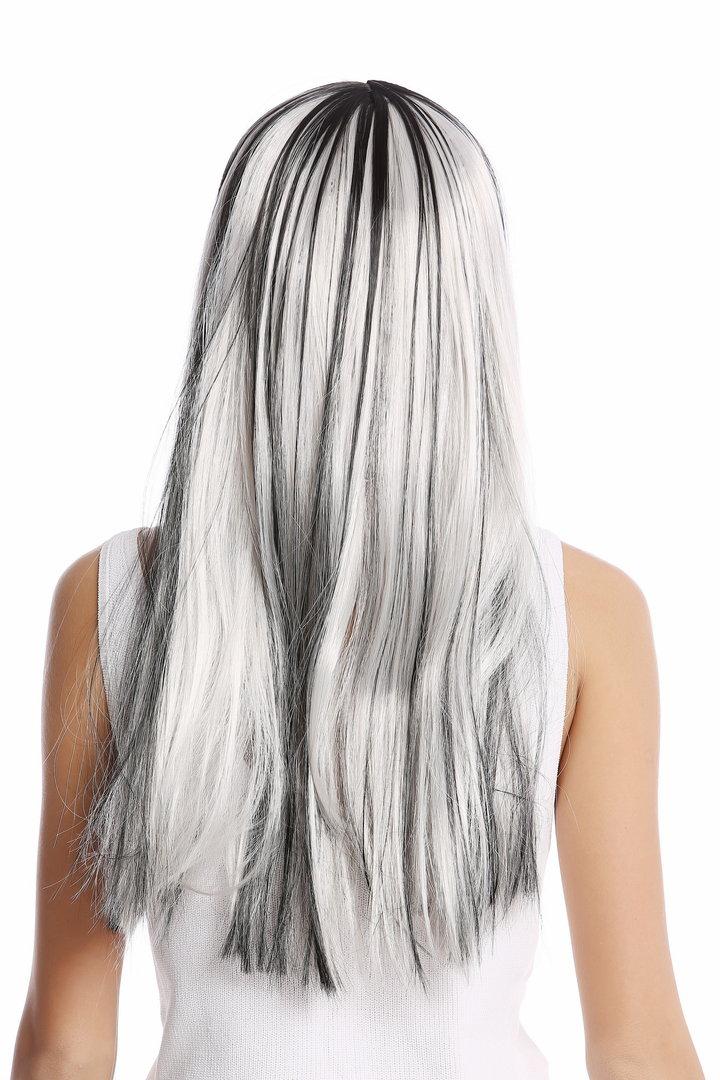 Schwarzen strähnen mit blond Kurze Schwarze