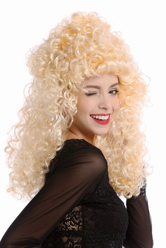 Wig Ladies Women Halloween Carnival blond baroque lion's mane very voluminous curly curls
