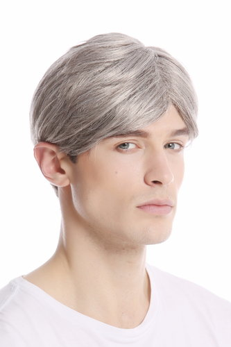 GFW994-51 Men Gents Wig short parting casual youthful modern look light grey gray