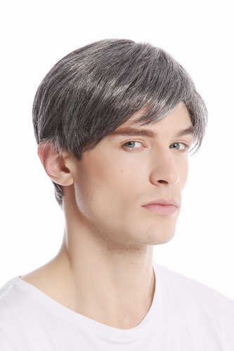 GFW994-44 Men Gents Wig short parting casual youthful modern look dark grey gray