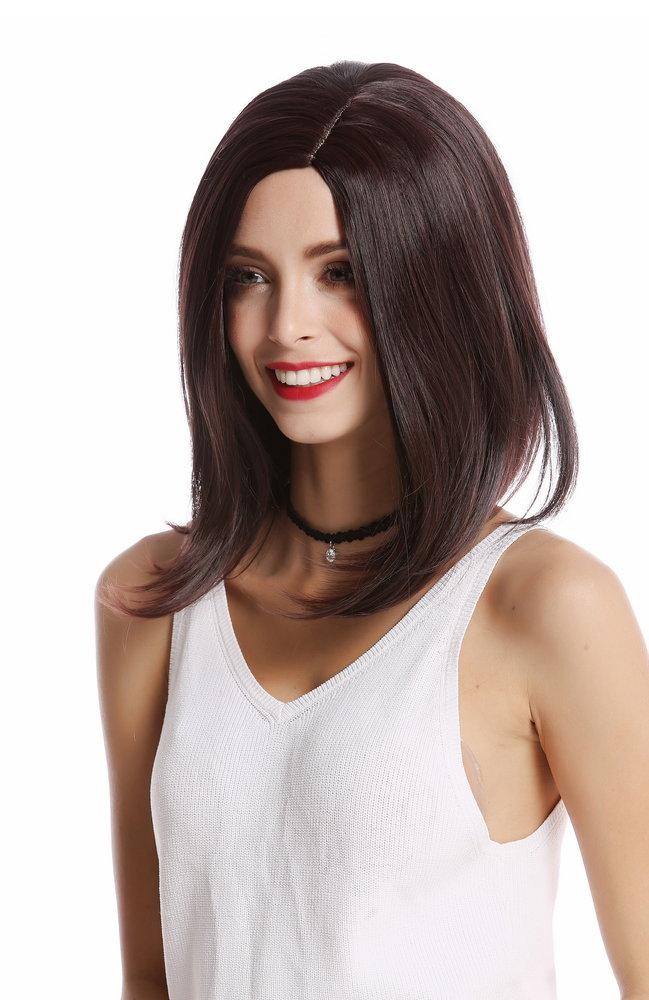 Lady Quality Wig Short Shoulder Length Bob Straight Slightly Off