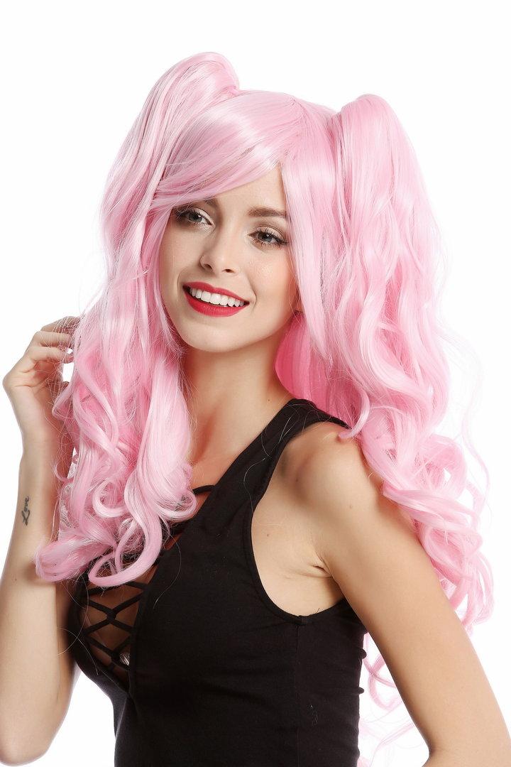 perücke cosplay 2 zöpfe helles pink yzf-4379-tf2317