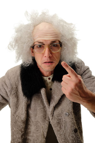 Wig Halloween Carnival crazy old half bald white grey gray hair Igor Einstein Frankenstein Grandpa