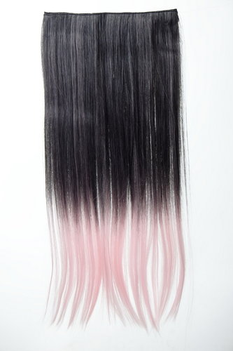 5 Clip-In Extension glatt Ombre Schwarz, Rosa YZF-3179P-1BT2333