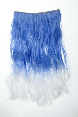 5 Clip-In Extension lockig Ombre Blau-Weiß YZF-3180P-T2512/1001