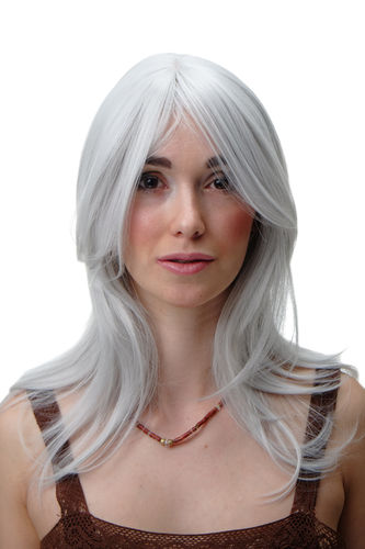 Lady Wig Cosplay Grey White medium length straight 3240-001