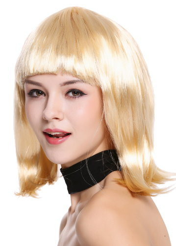 Lady Wig Disco bob longbob shoulder length bangs blond 0073-3-P02