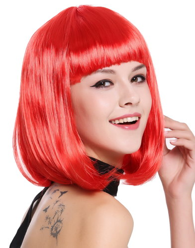 Lady Wig Disco bob longbob shoulder length bangs red 0073-3-PC13