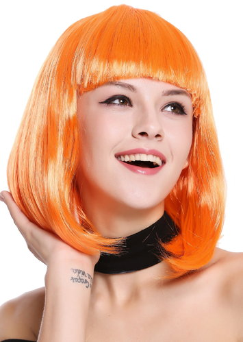 Perücke Longbob glatt Pony Orange 0073-3-PC24