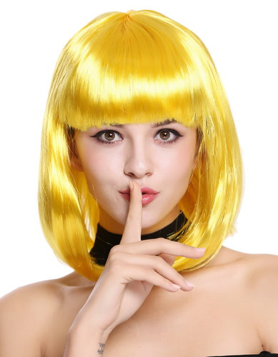 Lady Wig Disco bob longbob shoulder length bangs yellow 0073-3-PC2B