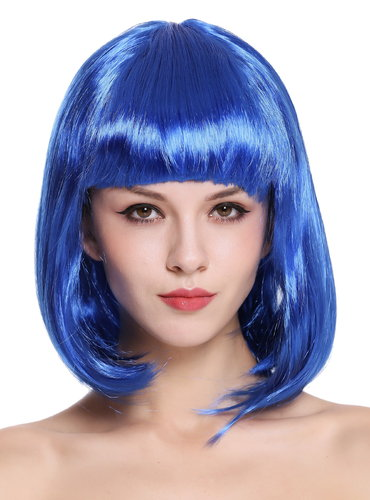 Lady Wig Disco bob longbob shoulder length bangs blue 0073-3-PC3