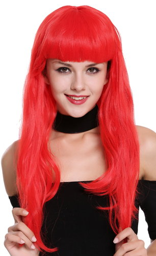 Wig Lady Women Cosplay red 50s Pin-up Model Burlesque 90649-EZA13